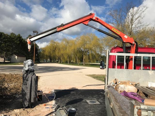 Un nouveau contrôle d'accès au parc de la Saussaie
